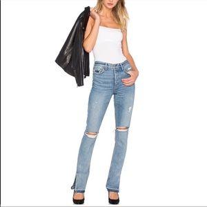GRLFRND Natalia High Waisted Distressed Jeans
